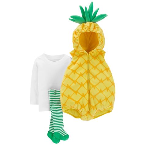 Brand New Carter/'s Pineapple Baby Girl/'s Halloween Costume 3pc size 24 Months