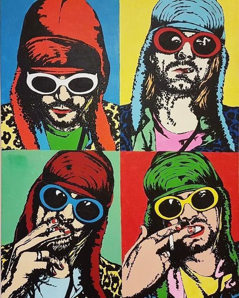 #popart #kurtcobain #nirvana   #poster #grunge #colorful  #music #90s