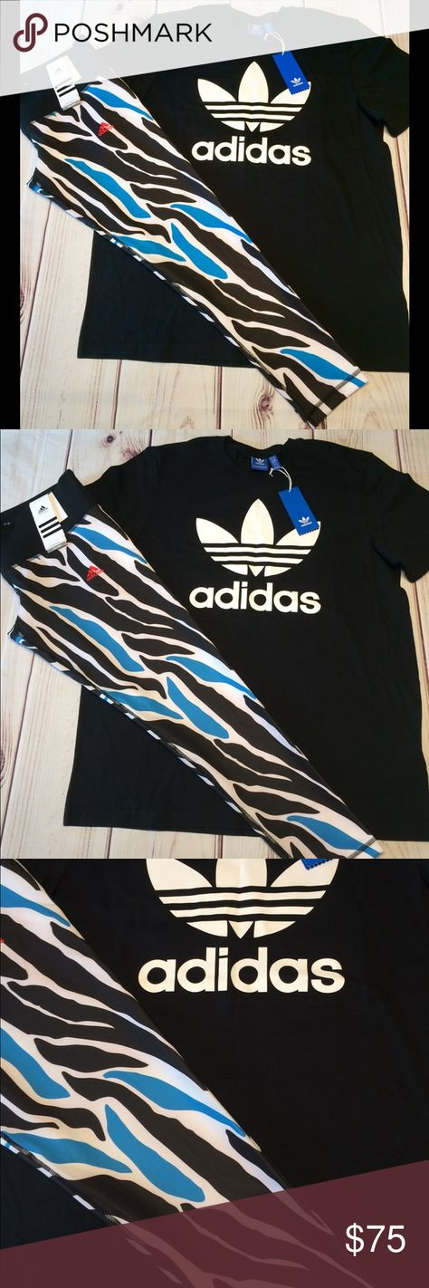 adidas legging en shirt set