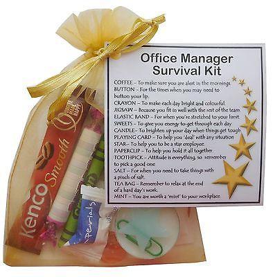 Work Colleague Survival Kit Fun Novelty Present secret Santa Thank You Gift