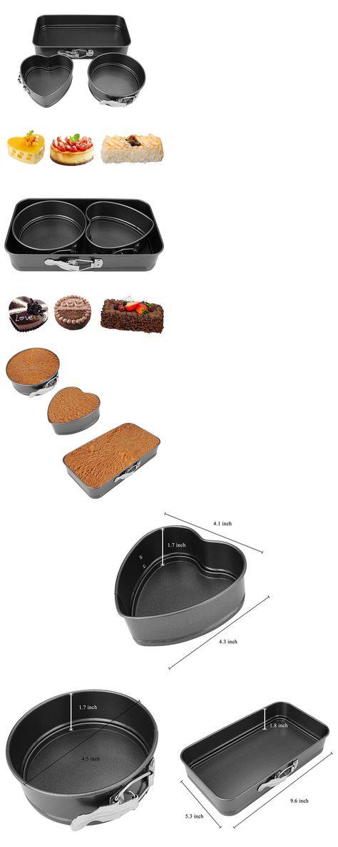 Bakeware 25464 3pc Cake Baking Pan Set Non Stick Kitchen