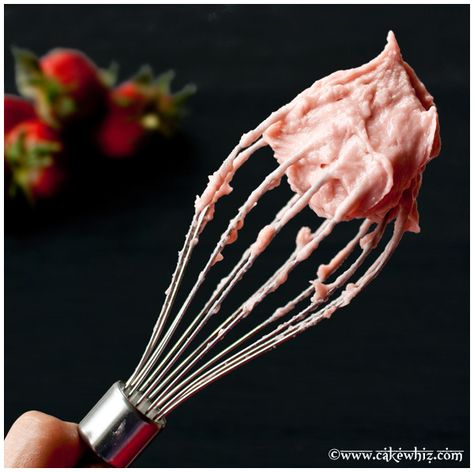 smoothest, creamiest strawberry frosting