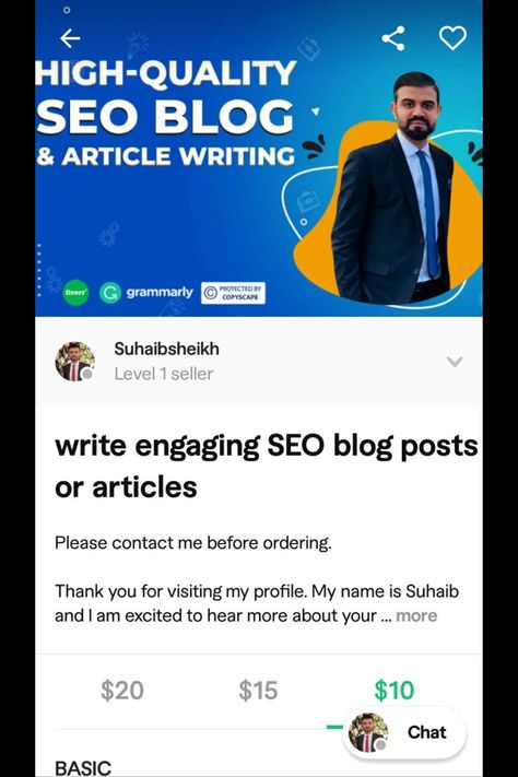 I will write engaging SEO blog posts or articles
