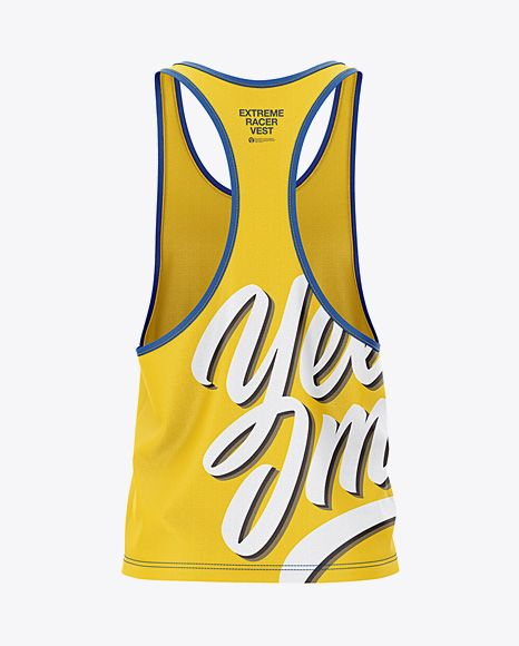 Download Men S Racer Back Tank Top Mockup Back View In Apparel Mockups On Yellow Images Object Mockups Design Mockup Free Tank Tops Shirt Mockup