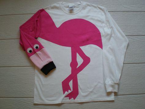Flamingo shirt long sleeve flamingo t shirt small medum