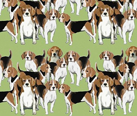 Beagles Fabric A Pack Of Beagles By Dogdaze Printed On Fleece