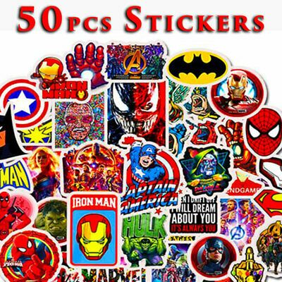 Details About 50pcs Marvel Avengers Superhero Decal Stickers