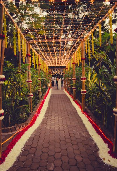 When it comes for the Indian traditional wedding decoration, we Indians jump for our individual suggestions - how would be the wedding mandap decoration with flowers, how would be the wedding stage, what are the food items and so and so and so on. Wedding Ceremony Ideas, Desi Wedding Decor, Wedding Stage Decorations, Wedding Mandap, Ceremony Backdrop, Outdoor Ceremony, Backdrop Ideas, Wedding Photos, Backdrop Lights