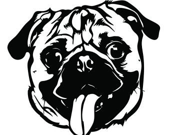 Pug Svg Etsy Yorkshire Terrier Pugs Yorkie Dogs