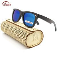 677316a0c4ab0  SCOBER  Classic Square New Environmental protection Brown Log mens  polarized sunglasses with case Mirror Coated UV sun glasses