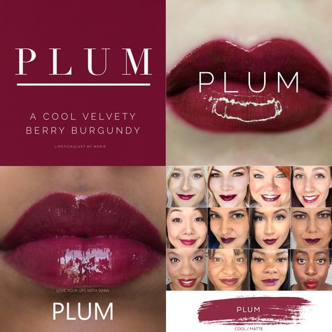 Plum LipSense is lip color that lasts 4-18 hours. It won't smudge, budge, feather, or kiss-off!