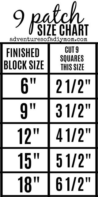 nine patch quilt block sizes Quilting For Beginners, Quilting Tips, Quilting Tutorials, Quilting Designs, Baby Quilt Tutorials, Beginner Quilting, Machine Quilting, Quilting Projects, Quilt Square Patterns