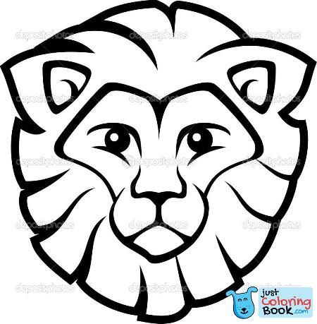 Adult Printable Lion Head Coloring Pages Face Of Side Xface