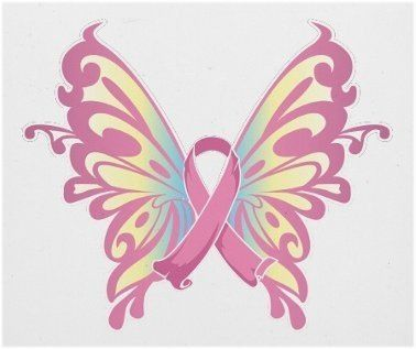 Beautiful Butterfly Pink Ribbon  to honor someone special