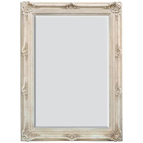 Mirror Large Wall Dressing Style Traditional White Wash