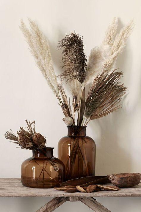 Grote glazen vaas - Home / Decor - vase Large Glass Vase, Tall Glass Vases, Cut Glass, Glass Flower Vases, Small Vases, Glass Art, Vase Vert, Home Interior Design, Interior Decorating