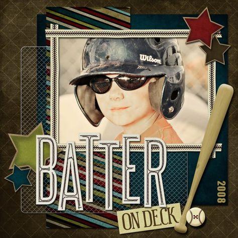Batter on Deck - Scrapbook.com