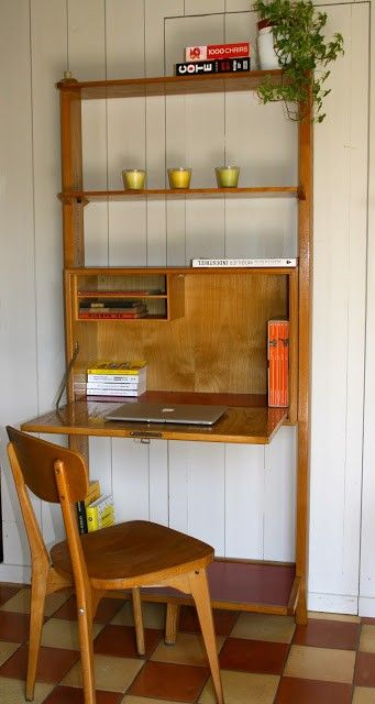 Secretaire Mural Bureau Poul Cadovius Vintage D Occasion Idees De Decor Bureau Petit Espace Decoration Maison