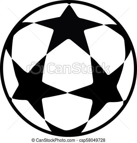 Soccer Ball Stars Logo Vector Illustration World Cup Football Competition Soccer Ball Stars Icon Championship Goal Uefa Star Logo Soccer Ball Soccer Logo