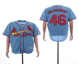 new concept f6f70 2ab04 Men's St. Louis Cardinals #46 Paul Goldschmidt Light Blue ...
