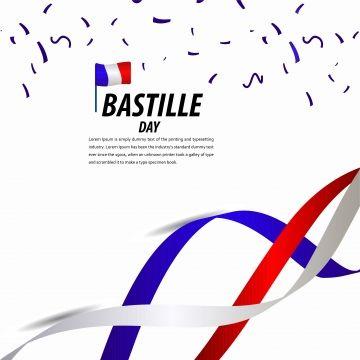 Happy Bastille Day Celebration Poster Ribbon Banner Vector Template Design Illustration Happy Icons Template Icons Banner Icons Png And Vector With Transpare Bastille Day Happy Bastille Day Banner Vector