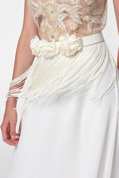 Ekru Puskullu Kemer Tuvanam For Trendyol Trendyol Bridal Belt Fringe Weddingdress Gelin Elbisesi Gelinlik Dantel Gelinlik
