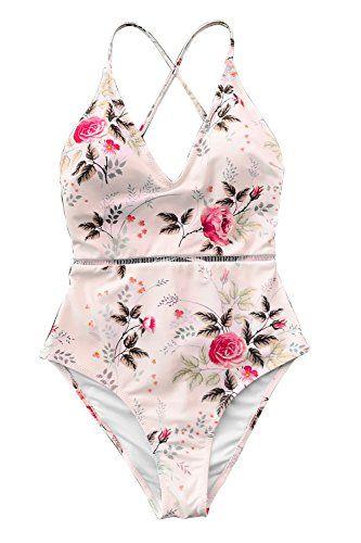 Cupshe Shallow Waters Print One Piece Swimsuit Beach Swimwear