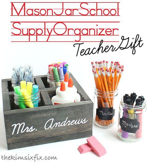 The Kim Six Fix: School Supply Organizer (Teacher Gift Idea)