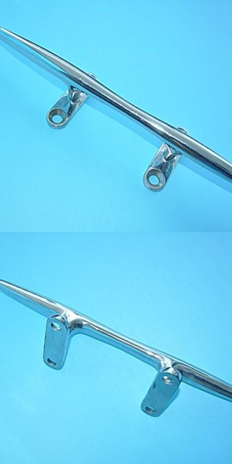 """2PCS Marine 316 Stainless Steel Hollow Base Boat Rope Cleat-Deck//Boat//Yacht 5/"""""""