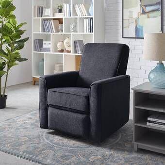 Viv Rae Hemington Reclining Glider Reviews Wayfair Living Room Furniture Sale Swivel Recliner Chairs Recliner