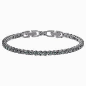 Tennis Deluxe Bracelet Gray Ruthenium Plated In 2020 Swarovski Gifts Bracelets Crystal Jewelry