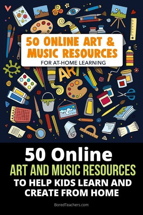 Engaging in art and music builds creativity, academic skills, relationships & self-confidence. Here are some great online resources to inspire kids at home. Music Education, Health Education, Physical Education, Art Education Lessons, Science Education, Special Education, Music Websites, Teach Dance, Online Lessons