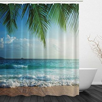 Abxinyoule S Seashell Beach Shower Curtain Beach Shower Curtains Beach Themed Bathroom Accessories Shower Curtains Walmart