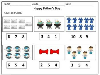 Father S Day Counting Worksheets 1 20 Counting Worksheets Fathers Day Father S Day Activities