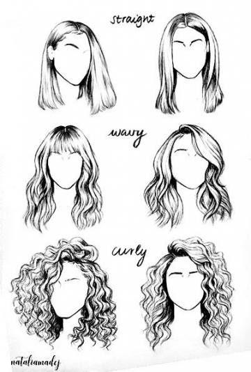 19 Trendy Hairstyles Straight Hair Diy Hair Illustration How To Draw Hair Hair Sketch