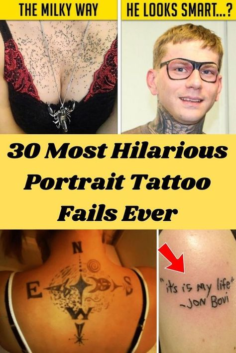 30 Most Hilarious Portrait Tattoo Fails Ever#OMG #WTF #Humor #Gags #Epic #Lol #Memes #Weird #Hot #Bikni #Fails #Fun #Funny #Facts #Hot Girls #Entertainment #Trending #Interesting