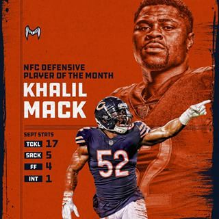 Khalil Mack Making A Huge Impact In Chicago Mackattack Dabears Chicago Bears Chicago Bears Wallpaper Chicago Bears Football
