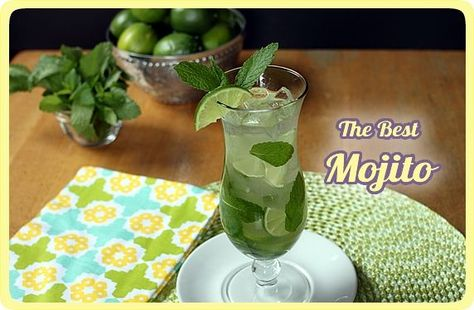 recipe of the same mojito I had in Mexico... ARRIBA! mexican mojito!