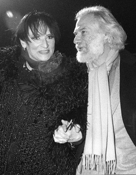 Georges Moustaki En 1986, avec la chanteuse Barbara.