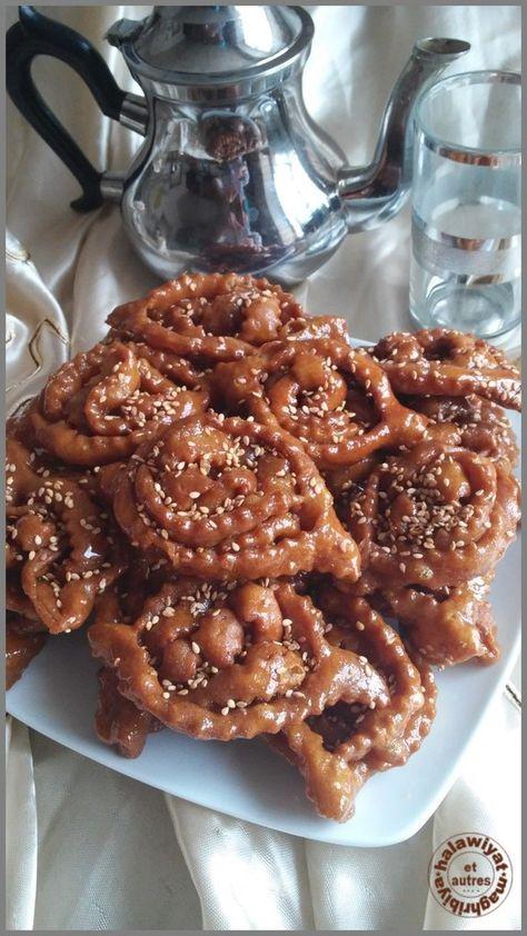 Chebakias Ou Griwichs Autre Recette Oriental Desserts Pinterest