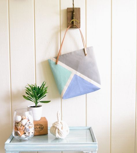 Rio Hand-Painted Triangle Tote Bag by Sundown Style Company on Scoutmob