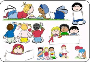 clip art of kids at school playing watching and learning great for decorating your communication bulletin boards flyers and worksheets
