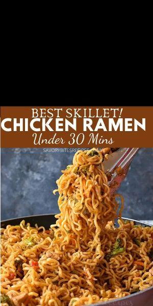 Skillet Chicken Ramen