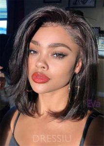 Natural Straight Bob Bob Hairstyles For Black Women Hair Styles Black Women Hairstyles Medium Hair Styles
