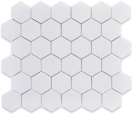 White 12x12 Hexagon Mosaic 11pcs Carton 11 Sq Ft Ceramic Floor Tiles Amazon Com Hexagonal Mosaic Ceramic Floor Ceramic Floor Tiles