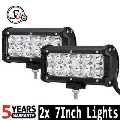 2 Pcs Flood Beam 36w 7 Inch Car 3400lms Waterproof Led Offroad Light Bar 12v Dc 6000k Work Light Off Road Led Lights Bar Lighting Work Lights