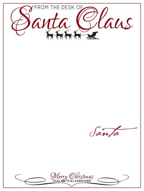 picture about Printable Letterhead From Santa known as The Table of Letter Thoughts Towards Santa Claus Xmas CRAFTS