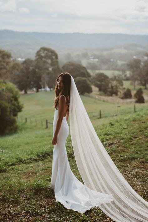 Wonderful Perfect Wedding Dress For The Bride Ideas. Ineffable Perfect Wedding Dress For The Bride Ideas. Dream Wedding Dresses, Wedding Gowns, Wedding Dress Veil, Wedding Rings, Wedding Frocks, Bridal Dresses, Backless Wedding, Long Wedding Veils, Wedding Dress Petite