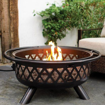 Red Ember Gas Crossweave Fire Pit Bowl Hayneedle Fire Pit Bowl
