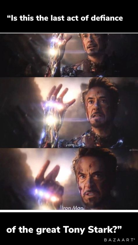 The line that made me fall in love with iron man.